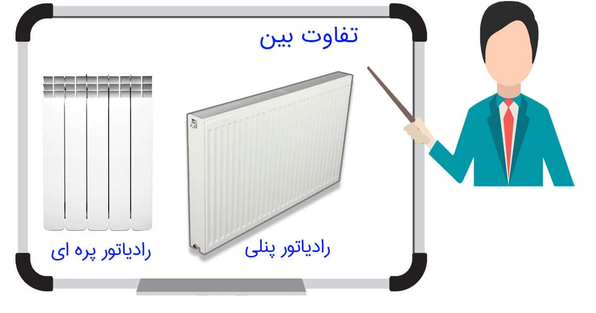 فرق رادیاتور پنلی و پره ای